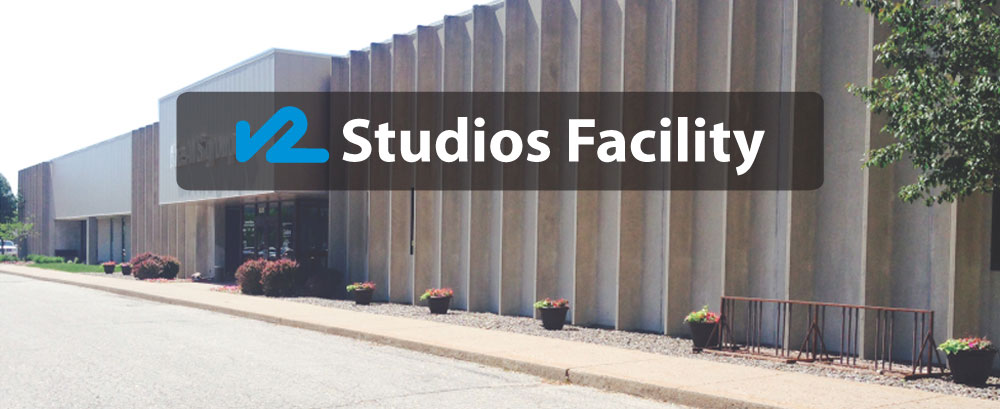 v2 studios facility located in La Crosse, Wisconsin