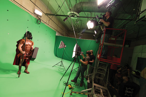 Green Screen at v2 Studios the largest in the area